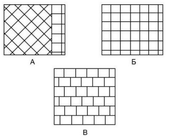 Несколько рисунков укладки плитки
