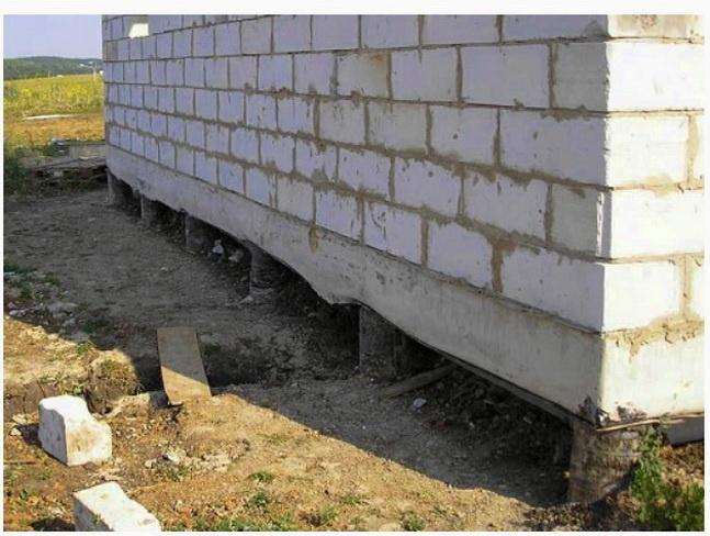Стена на фундаменте ТИСЭ