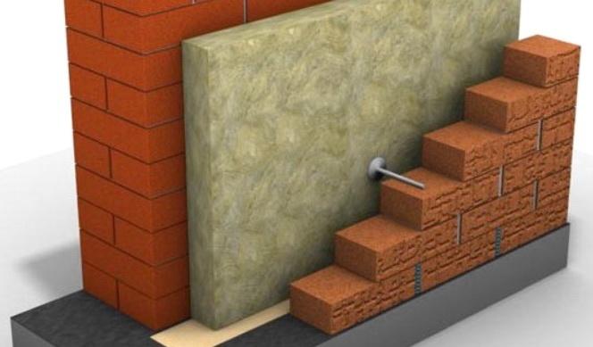 Схема трехслойной стены