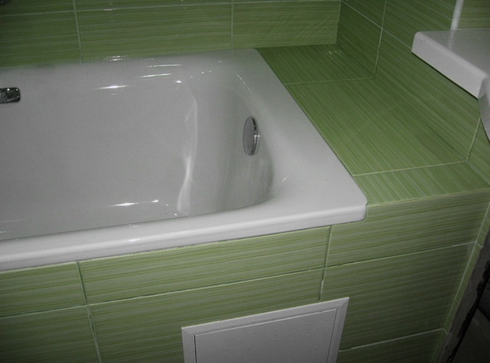 Ванная отделывается плиткой
