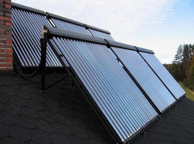 Энергоэффективный дом с коллектором на крыше