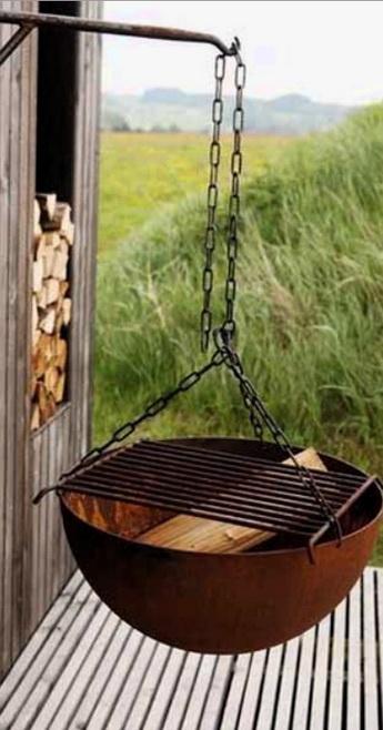 Подвесить мангалл к чему нибудь - подвесная печь