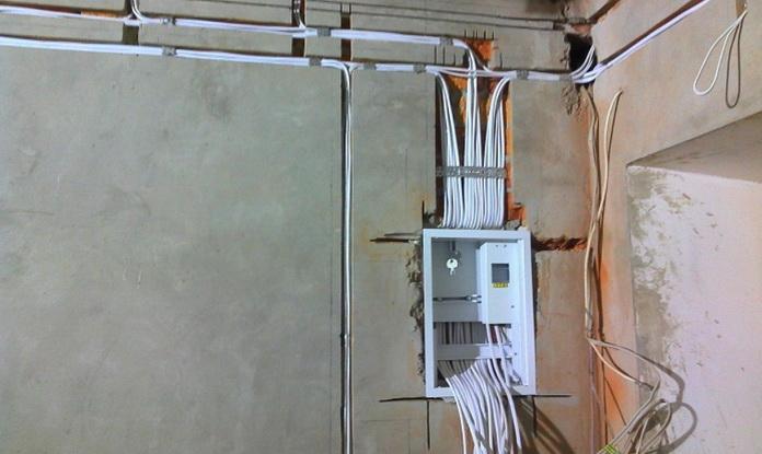 Разводка от электрощита