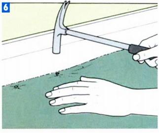 Прибивка коврового покрытия гвоздями к полу