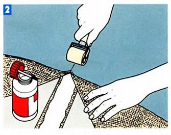Стыковка полотнища с помощью ленты