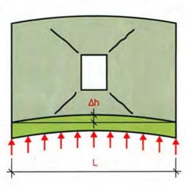 Вспучивние стены с окном с появлением трещин