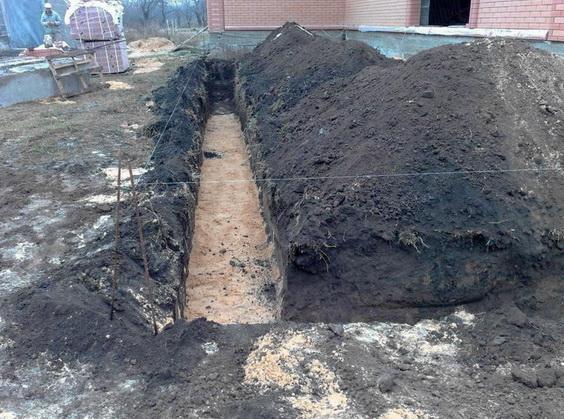 Не выполнеятеся трамбовка песчаной подсыпки