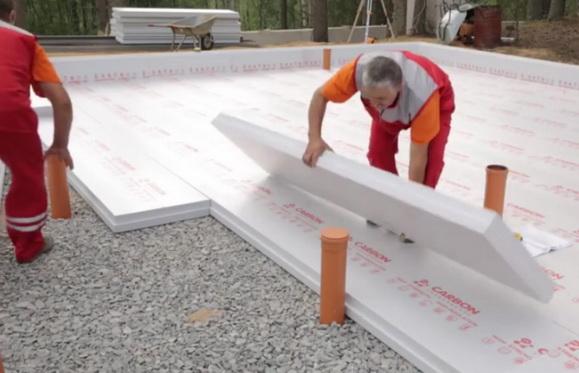 Утепление фундаментной плиты по щебенчатой подготовке