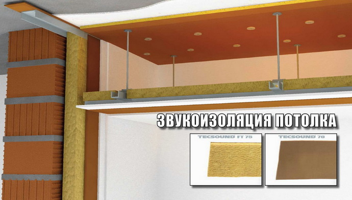 Как звукоизолировать потолок