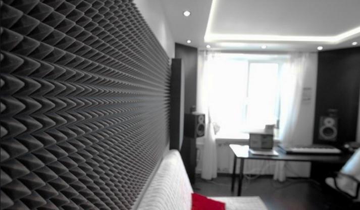 Звукоизоляция комнаты поролоном