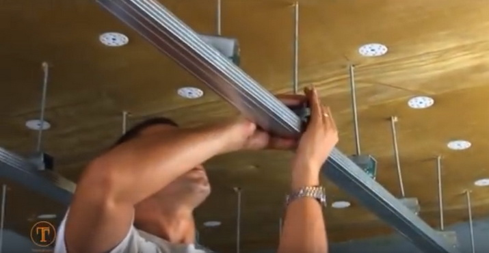Установка звукоизоляции на потолок