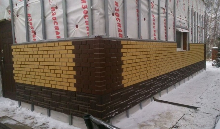 Фасадные панели зимой