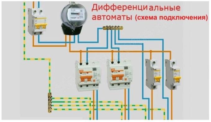 Как подключить дифференциальные автоматы