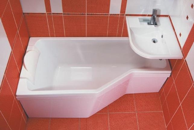 акрилова ванна под раковиной