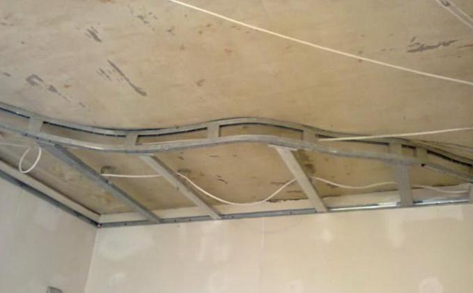 Как делать обрешетку на потолке