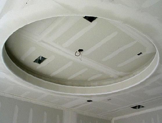 Монтаж на потолке