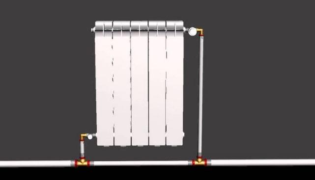 подключение радиатора при однотрубке
