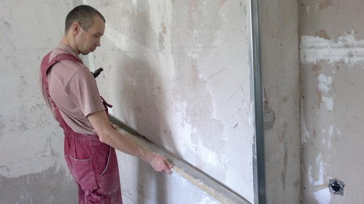 Как выровнять стену