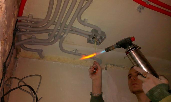 Выолнение электрики в квартире