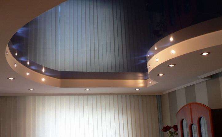Потолок натяжной в 2 уровня