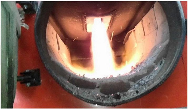 горение пиролизных газов