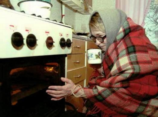 замерзла в холодном доме