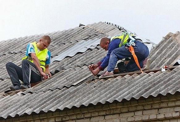 Ремонт на крыше