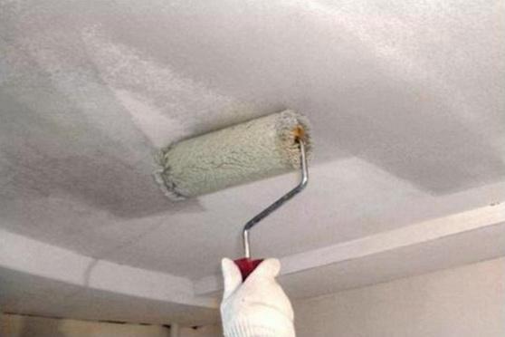 Побелка кухонного потолка