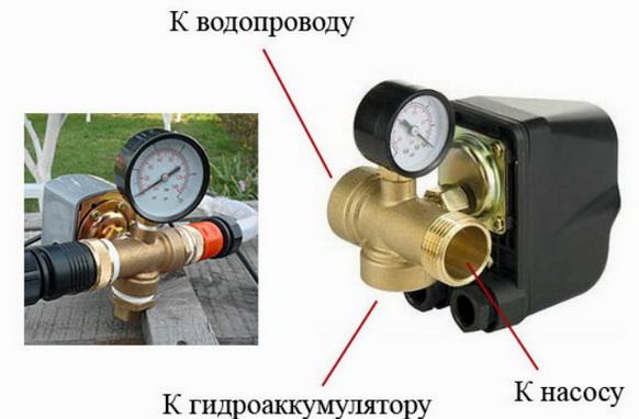 Реле давления для водопровода