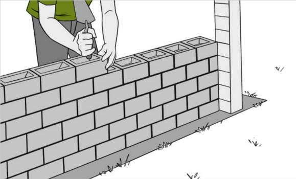 Делаем кладку стена