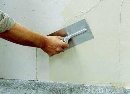 Работа с белой цементной шпаклевкой