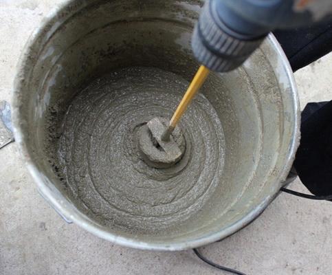 Приготовление цементной штукатурки