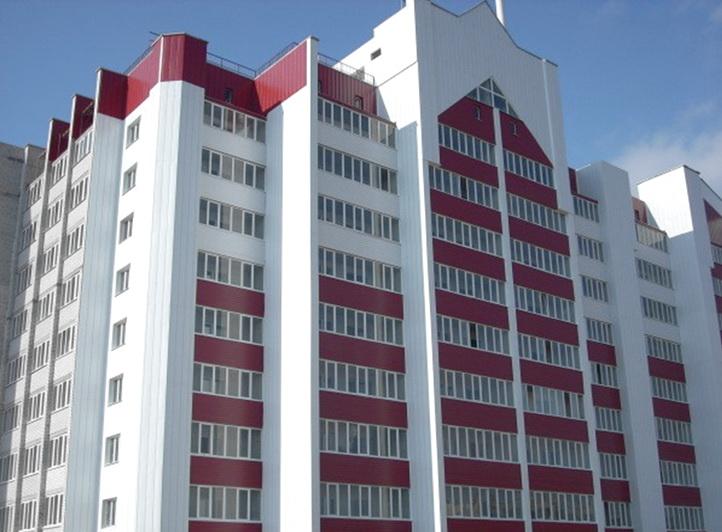 Дом с панелями в 12 этажей