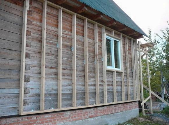 обрешетка деревянная на доме