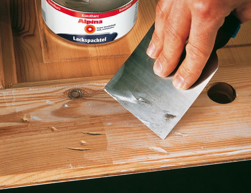 Как Шпаклюют древесину