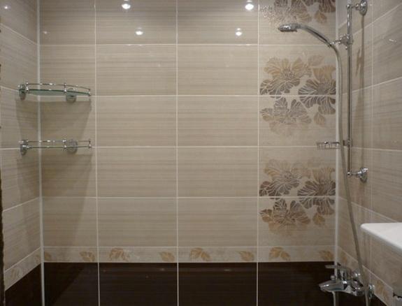 Рованая плитка в ванной