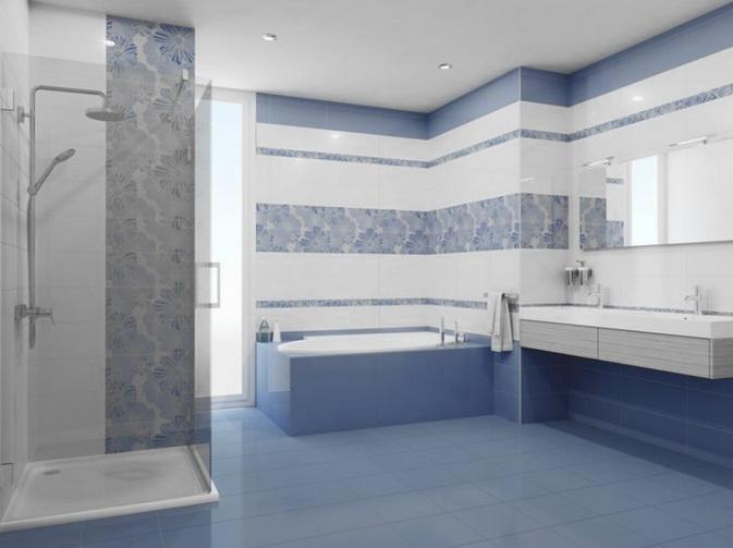 Обычный горизонтальный дизайн ванной
