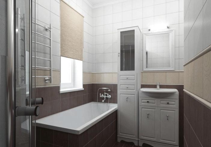 Обычная плитка в ванной