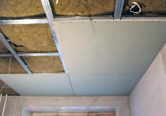 отшивка утепленного потолка