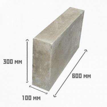 Размеры блока газобетона