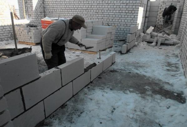 Делаем кладку блоков