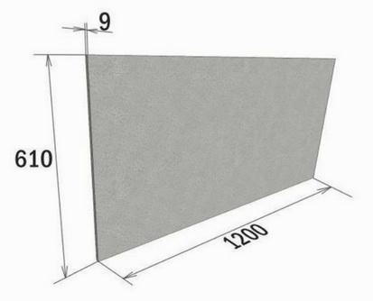 Размеры фиброцементных плит