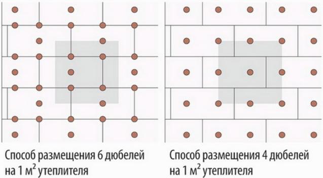 Схема анкерования пенопласта